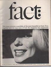 1965 Volume Two # 3 Issue of Fact Magazine Eros Portfolio and Marilyn Monroe