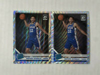 MATISSE THYBULLE LOT OF 2 2019-20 Optic FANATICS SILVER WAVES HOLO PRIZM SP RC's