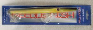 Tony Stetzko Lg Needlefish Yellow/Black Saltwater Lure 2.7 oz New In Package NOS