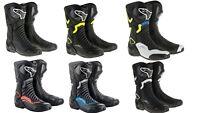 Alpinestars SMX-6 V2 Motorcycle Motorbike Sports Boot - Black/Blue/Red/White/Flu