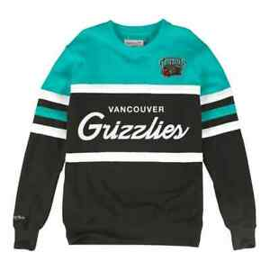 Vancouver Grizzlies Mitchell & Ness  Men's NBA Head Coach Crew Sweatshirt