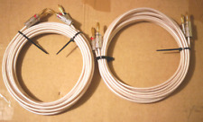 QED QUDOS BALANCED DESIGN 3.9 M CABLES WITH NEW NAKAMICHI PLUGS