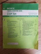 SONY CDP-101 CD PLAYER TROUBLESHOOTING GUIDE - GENUINE AND ORIGINAL