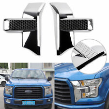 Chrome Front Bumper Headlight Grille Cover Trims Fit 2015+ Ford F150 Accessories
