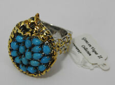 Gems en Vogue Turquoise Panther Ring s9 Michael Valitutti Designer Jewelry NEW