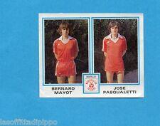 FRANCIA-FOOTBALL 80-PANINI-Figurina n.519- MAYOT+PASQUALETTI - MONTPELLIER -Rec