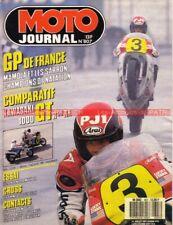 MOTO JOURNAL  807 KAWASAKI GTR 1000 GPZ 1000 RX HONDA 125 MTX Husqvarna 510 1987