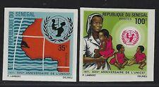 1971 Senegal Scott #352a-353a - Imperf UNICEF Set of 2 - MNH