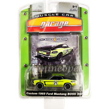 GREENLIGHT 12640 MUSCLE CAR GARAGE CUSTOM 1969 FORD MUSTANG BOSS 302 1/64 #21