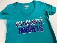 Charlotte Hornets T-Shirt Womens Small NBA Basketball V-Neck NEW Cotton Tee Top