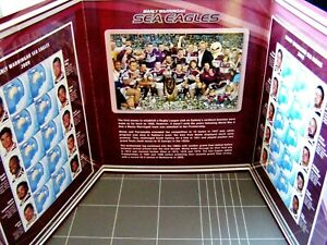 2009 NRL Many Warringah SEAS EAGLES Double Stamp Folder - Photo's, Stamps