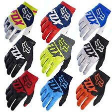 FOX Full Finger Cycling Bike Gloves Motorcycle Motorcross Offroad Sports M/L/XL