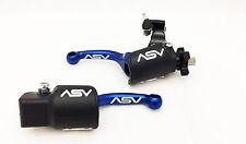 ASV F3 Shorty Blue Brake + Clutch Levers Kit Dust Covers Yamaha YZ 250F YZ450F