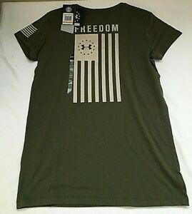 $25 Under Armour 1333371-390 Women's UA Freedom Flag T-Shirt, SM/P, NWT