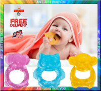First Setps Baby Teether Teething Ring Water Filled BPA Free Soothe Sore Gums