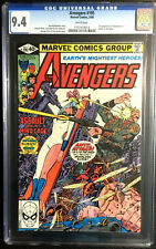 AVENGERS #195 CGC 9.4 GEORGE PEREZ 1980 WHITE PAGES 1st TASKMASTER (CAMEO)