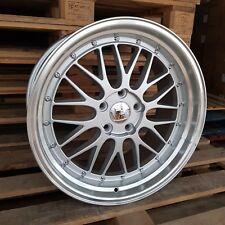 4x LM 19x8.5 19x9.5 5x120 et40 72.6 Silver Polished Lip BMW