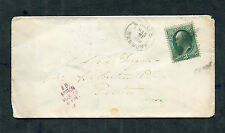 Postal History - Weston VT 1879 Double Ring CDS Cork Killer Cancel Cover B0306