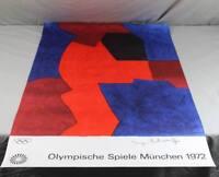 Plakat - Serge Poliakoff abstrakte Komposition - Olympische Spiele München (4) O