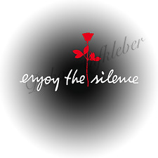 Enjoy the silence + Rose Aufkleber Auto Deko Folie Depeche Mode