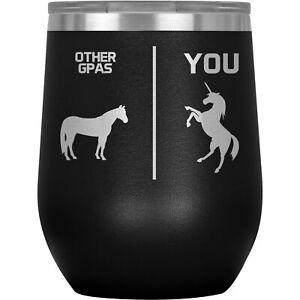 Gpa Wine Tumbler Glass Mug Cup Funny Gifts For Birthday Present G-Pa G Pa K-88D