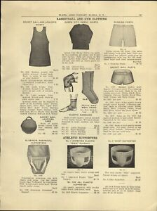 1930 PAPER AD Athletic Supporter Aluminum Cup Bike Brand Jock Strap Boxing Bag