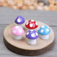 10X Cute Mini Mushroom Garden Ornament