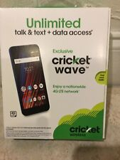 """New Cricket Wave with 5""""scrn 16GB,only For Cricket New Acc Or Upgrade Old Phone."""