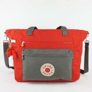 KIPLING ISAAC Nylon Travel Carryall Tote Bag Cherry Bold Block