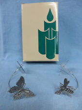Partylite P02904 Garden Candle Ornaments Butterfly and Bee Nib