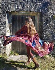 Vintage PHOOL Coat Dress Indian  Cotton Velvet Boho Jacket 70s 90s Uk 10-12-14