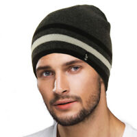 CC Men's Reversible Winter Soft Knit Stretchy Warm Beanie Skull Ski Hat Cap