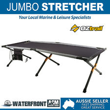 OZtrail Stretchers Jumbo Portable Camping Camp Folding Stretcher Bed + Carry Bag