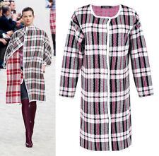 Women's Plaids Checks Cotton Basic Coats & Jackets