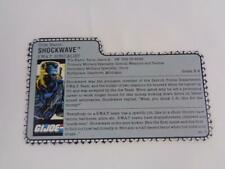 GI Joe 1988 Shockwave File Card