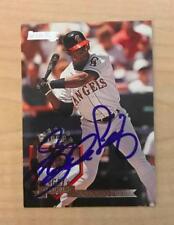 EDUARDO PEREZ CALIFORNIA ANGELS SIGNED AUTOGRAPHED 1995 DONRUSS CARD #214 W/COA