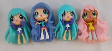 "Mini Anime Girl Figures 2.5"" lot of 4"