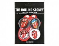 ROLLING STONES pack no.1 BUTTON BADGE SET OF 4 jagger richards - no longer made