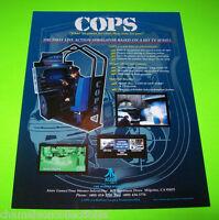 Atari 1994 COPS Original NOS Video Arcade Game Promo Flyer Based On TV Series