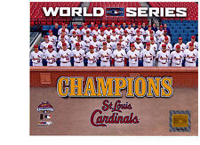 St Louis Cardinals Authentic 2006 World Series Team 8x10 Color Photo MLB