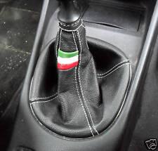 ALFA ROMEO 147/GT/156 CUFFIA CAMBIO VERA PELLE NERA 1