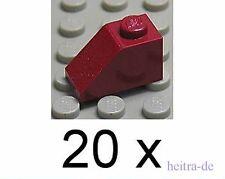 LEGO - 20 x Dachstein dunkelrot 45 Grad 1x2 / Dark Red Slope / 3040 NEUWARE