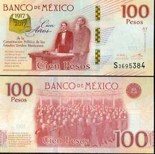 MEXICO 100 Peso seria S - issue 2016 - 2017 - COMMEMORATIVE - UNC