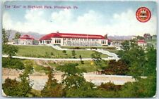 """Pittsburgh, Pennsylvania Postcard """"The 'Zoo' in Highland Park"""" c1910s"""