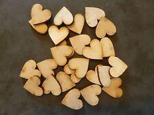 25x 2.5cm wooden heart craft blanks