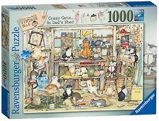 Ravensburger Puzzle * 1000 pièces * Crazy Cats dans Dad's nfixup * Linda Jane Smith * Neuf dans sa boîte