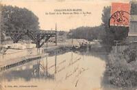 CPA 51 CHALONS SUR MARNE LE CANAL DE LA MARNE AU RHIN LE PORT