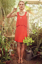 Tisana Dress Red Sundress Summer Cocktail By Maeve Anthropologie, Size 12