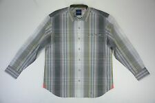Men's Tommy Bahama size XL Gray Long Sleeve Button Up Canberra Shirt NEW NWT