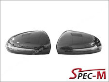 Carbon Fiber Replacement OEM Mirror Cover w/ LED for 2015+ W205 C250 C300 C450